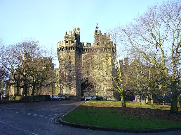 """Lancaster Castle"" by Photo by Tom Oates. Licensed under CC BY-SA 3.0 via Commons - https://commons.wikimedia.org/wiki/File:Lancaster_Castle.jpg#/media/File:Lancaster_Castle.jpg"